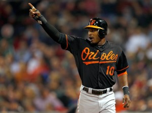 Baltimore Orioles centerfielder Adam Jones wants fans who run onto the field delt with harshly