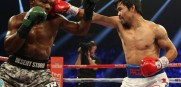 Manny Pacquiao landed a right hand to the head of Timothy Bradley en route to a win