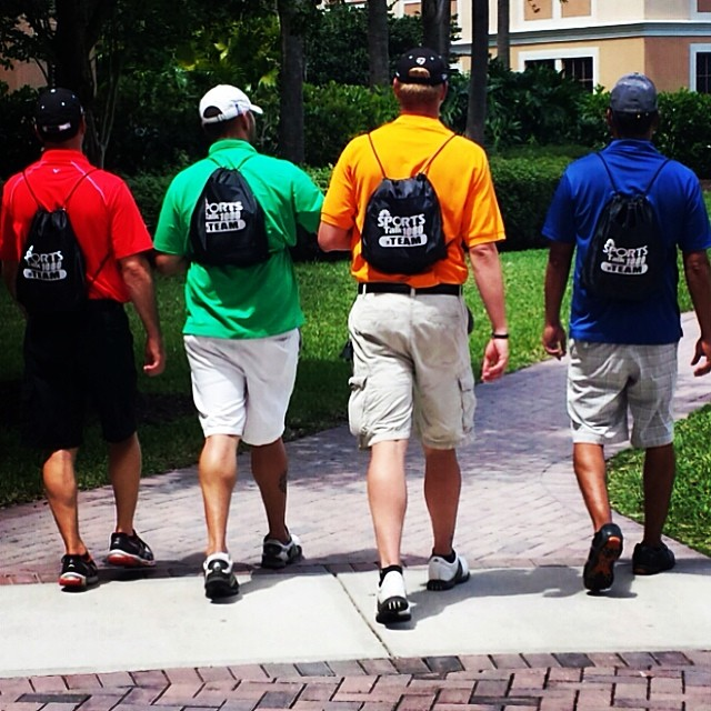 We had a great day at our Monday After the Majors golf tournament, yesterday. These guys are sporting their new Sports Talk Florida backpacks. Thanks to everyone that participated!