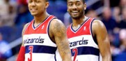Former Florida Gator Bradley Beal and former Kentucky Wildcat John Wall are the best young backcourt in the NBA