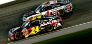 Jeff Gordon gets a big win Saturday night in Kansas.