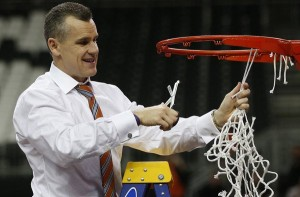 The defending SEC Florida Coach Billy Donovan will have his team facing Kansas.