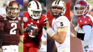 The top four quaterbacks in this years draft. Manziel, Bridgewater, Bortles,  and Carr. The Bucs could land one of them if they want.
