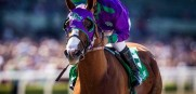 California Chrome gets the second post position as he attempts to win the Triple Crown Saturday at Belmont Park.