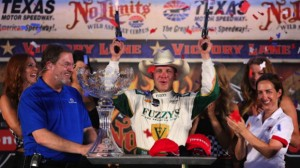 Ed Carpenter wins the Firestone 600 last night in Ft. Worth, Tx.