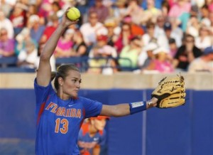 Hannah Rogers pitched a 4 hit shutout against Alabama on Monday night.