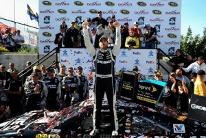 Jimmie Johnson was in Victory Lane at Dover as he took Sunday's Fed Ex 400