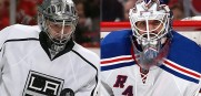 Kings goalie Jonathan Quick, left, and the Rangers' Henrik Lundqivst have both been outstanding thus far in the playoffs.
