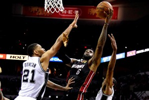 LeBron James scored 35 points and added 10 rebounds in helping the Heat to a win in game two.