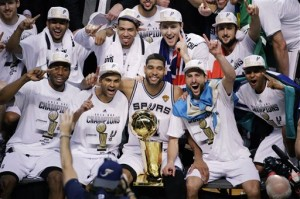 Spurs talk about how they were able to beat Miami in the NBA Championship Finals.