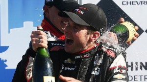 Will Power, driver of the #12 Team Penske Dallara Chevrolet wins race one of The Duel in Detroit