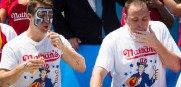 Joey Chestnut Nathan's Fourth of July Hot Dog Eating Contest