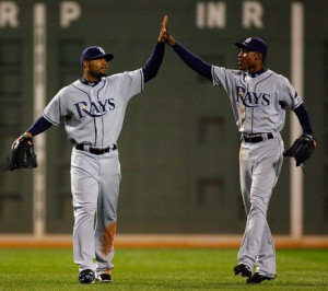 Carl Crawford and B J Upton are findng the Curse of the Rays to be a problem