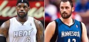 LeBron James and Kevin Love may be teamates by the end of August