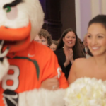 Canes Mascot Walks Bride Down Aisle After Her Father Passes Away