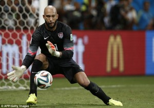 USA goalkeeper Tim Howard made a record 15 saves in Tuesday World Cup loss to Belgium