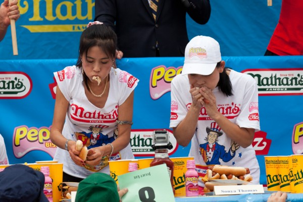 AP HOT DOG CONTEST A USA NY