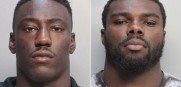 University of Miami football players Jawand Blue and Alex Figueroa