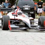 (VIDEO) Reggie Wayne Arrives at Colts Camp in an Indy Race Car
