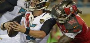 Blake Bortles sacked by Bucs DE Steven Means