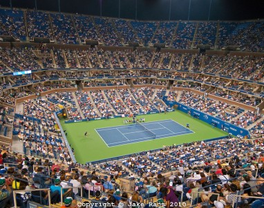 US Open, Arthur Ashe Stadium, a part of the USTA Billie Jean King National Tennis Center located within Flushing Meadows-Corona Park, NY