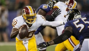 Robert Griffin III had another bad night last night in his 23-17 loss to Baltimore.