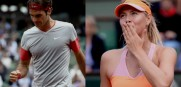 Roger Federer and Maria Sharapova are two of the stars playing today at the US Open