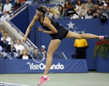 Sharapova serves up an ace as she beats Lisicki in straight sets at the U.S. OPEN