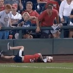Kid With Popcorn Bucket On Head Fails Trying To Get Foul Ball