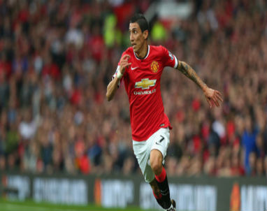Angel Di Maria of Manchester United hopes to score Sunday against the Foxes