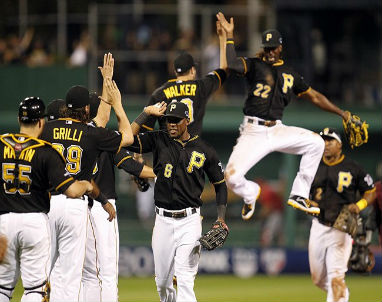 The red hot Pirates hope to catch the Cards with just two games left in the regular season