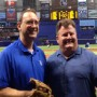 Dave Wills And Andy Freed Throw Out Rays First Pitch