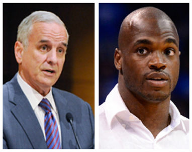 Governor Dayton thinks that Adrian Peterson should sit out until his legal issues are resolved