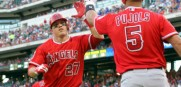 Albert Pujols and Mike Trout lead the Angels who boast the best record in baseball as they face the upstart Royals