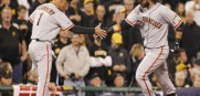 Brandon Crawford goes yard as the Giants bash the Pirates 8-0 in the NL wild card game