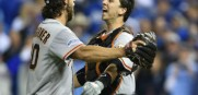 Madison Bumgarner and Buster Posey enjoy the Giants third World Series win in the last five years