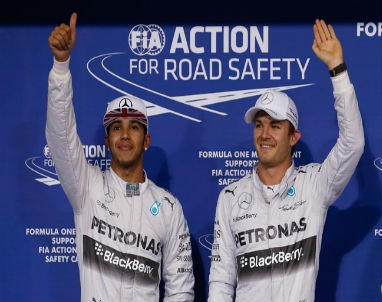 It will be teammates Lewis Hamilton and Nico Rosberg fighting for the FI Championship Sunday in Abu Dhabi GP