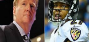 Roger Goodell and Ray Rice faceoff in a hearing in New York