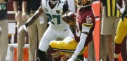 Washington Redskins quarterback Robert Griffin III (10) hurts his ankle against the  Jaguars. But he will play Sunday against the Bucs