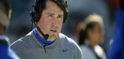 The Gators head coach Will Muschamp went out a winner today at home at The Swamp