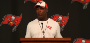 Bucs head coach Lovie Smith talks about the decision to start Josh McCown