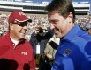 FSU head coach Jimbo Fisher and his good friend Gators Will Muschamp will face each other come Saturday