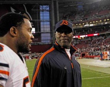 Lovie Smith and Lance Briggs