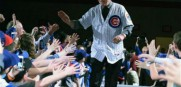 New Chicago Cubs manager Joe Maddon greets fans during the opening night of the annual Cubs Convention
