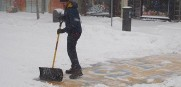 Boston marathon shoveler