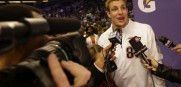 Rob Gronkowski Super Bowl media day