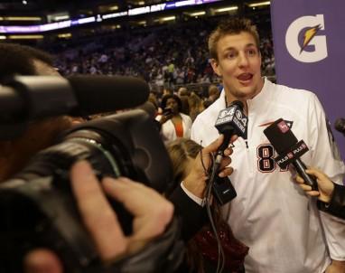 Rob Gronkowski Super Bowl media day