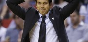 Coach Erik Spoelstra and the Heat are on a slide that is putting them in danger of missing the playoffs