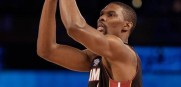 Chris Bosh looks for a three-peat this year at the Shooting Stars challenge.