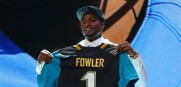 Jaguars' top pick Fowler hurts knee, gone for  for season